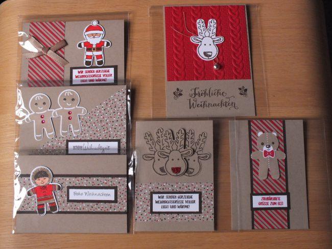 Weihnachtskarten und goodies stempelpunkt stampin 39 up - Amerikanische weihnachtskarten ...